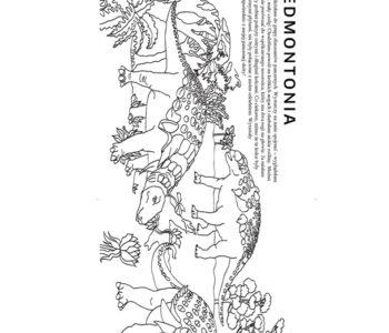 Darmowa kolorowanka z dinozaurem do pobrania i pokolorowania