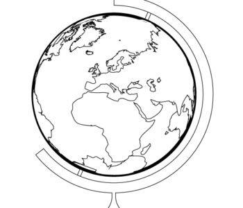 Darmowa kolorowanka z globusem - do druku