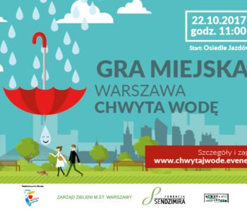 gra miejska Warszawa chwyta wode