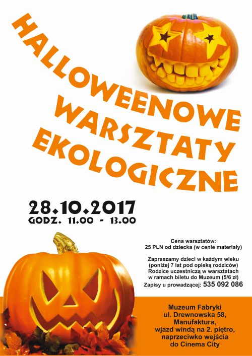 Warsztaty z okazji Halloween w Muzeum Fabryki