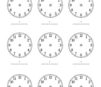 Darmowa kolorowanka do druku do nauki zegara