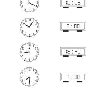 Która godzina? Połącz właściwe zegarki