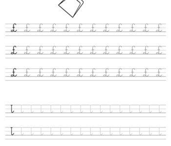 Szablon do nauki pisania literki Ł wraz z kolorowanką do wydruku