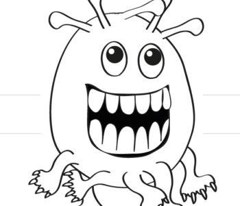 Uśmiechnięty potwór do zginania