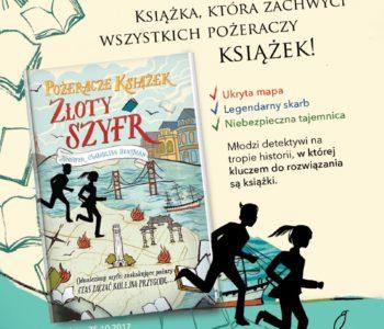"""""""Złoty szyfr"""" - nowa ksiażka dla wszystkich pożeraczy książek"""