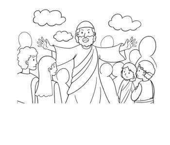 Kolorowanka z przemawiającym prorokiem do bezpłatnego wydruku