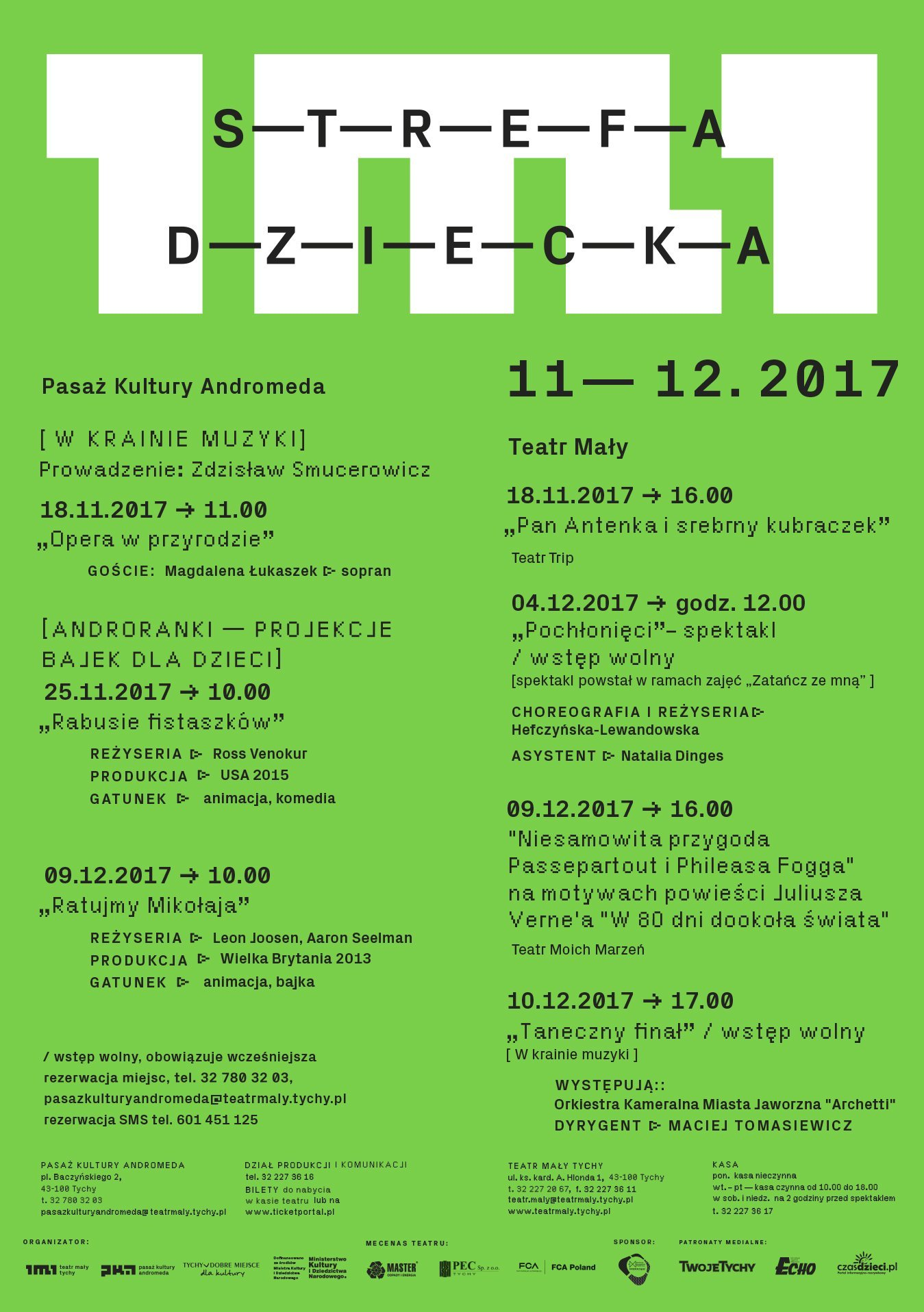 Strefa Dziecka w Teatrze Małym w listopadzie i grudniu - Tychy