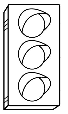 Darmowa kolorowanka z sygnalizacją świetlną do druku