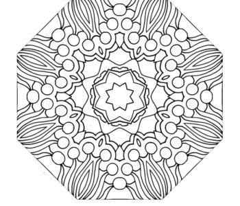 Kolorowanka dla dorosłych lub dzieci - mandala do wydruku