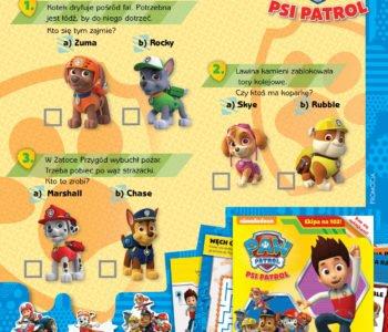 Psi patrol baw się z pieskami zabawa do druku dla dzieci