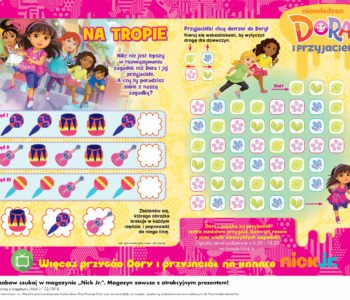 Dora i przyjaciele na tropie zabawa do druku dla dzieci