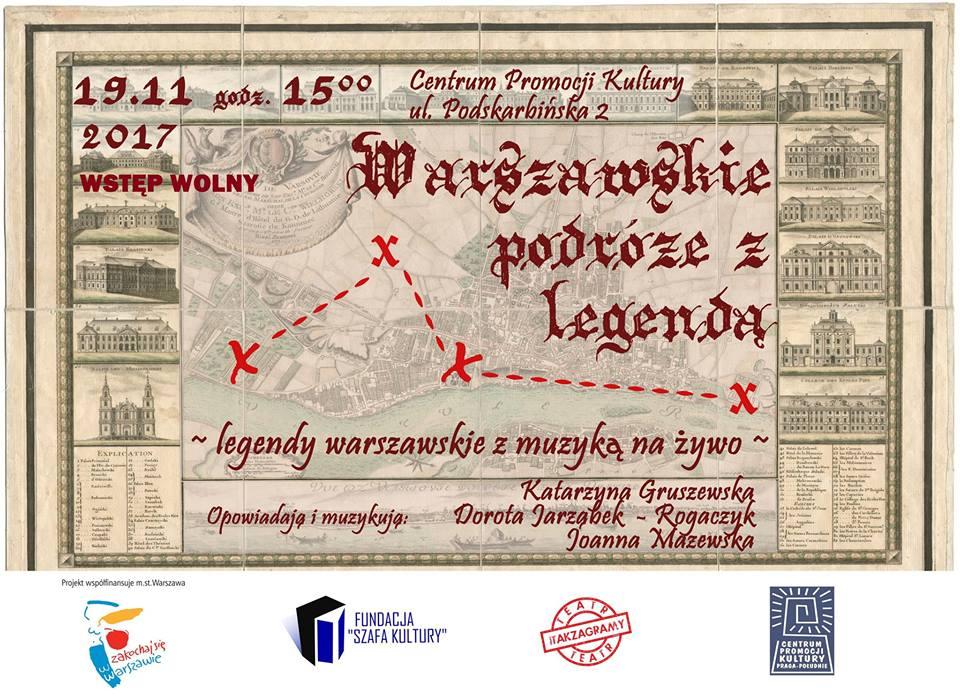 Warszawskie podróże z legendą - dla dzieci i dorosłych!