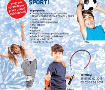 Ferie 2018 w Bażantowo Sport – półkolonie w Katowicach