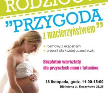 Bezpłatne warsztaty dla przyszłych rodziców - Przygoda z macierzyństwem
