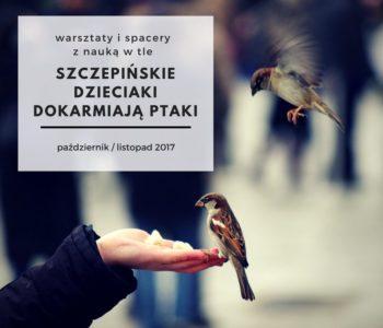 Szczepińskie dzieciaki dokarmiają ptaki