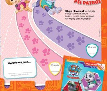 Psi patrol zabawy do druku wyścigi