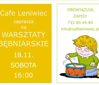 Warsztaty bębniarskie dla dzieci – Cafe Leniwiec zaprasza