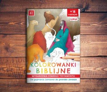 Kolorowanki biblijne - niezwykła wędrówka śladami Biblii, uczą i bawią dzieci - okładka książeczki