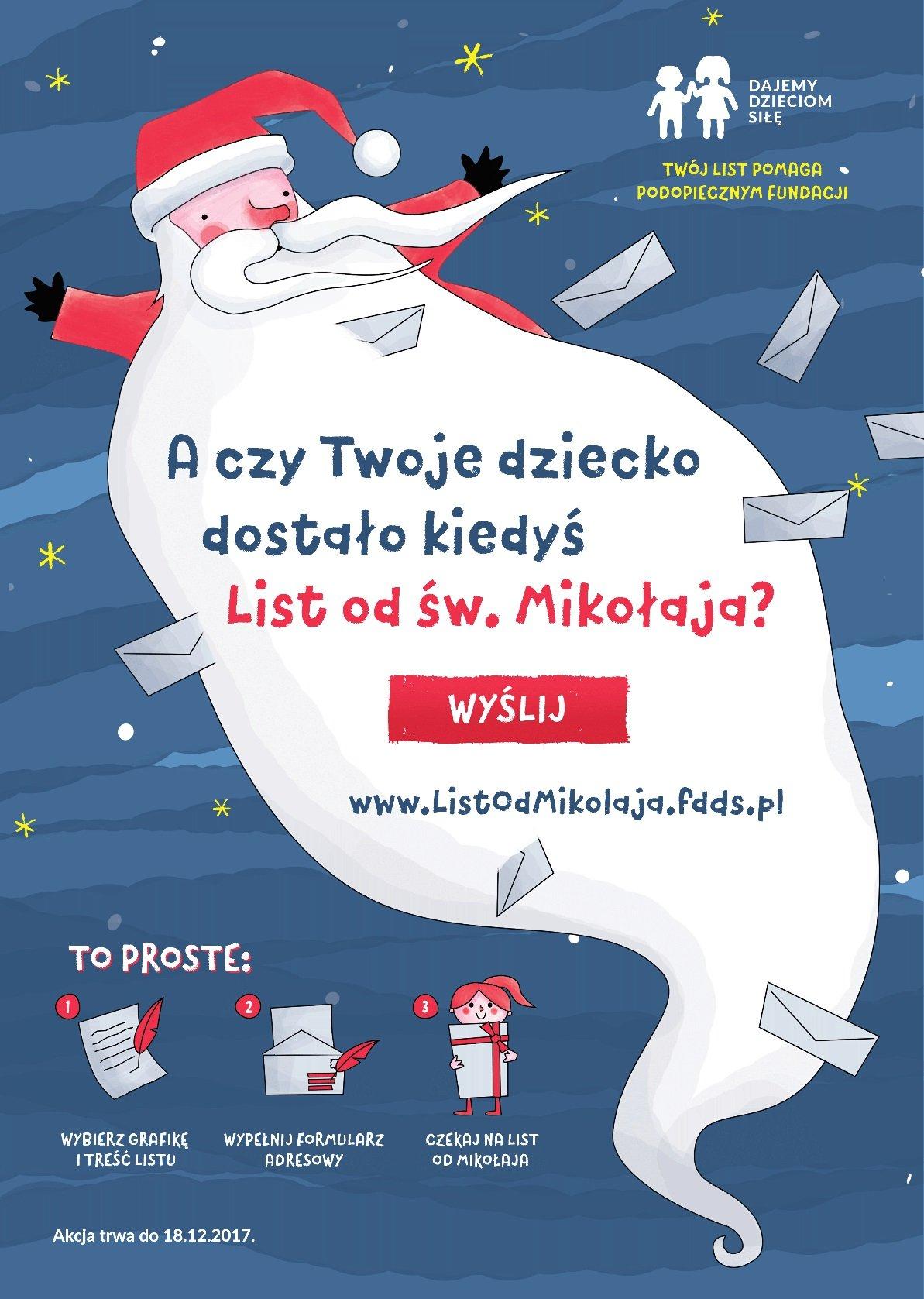 A czy Twoje dziecko dostało kiedyś List od św. Mikołaja? Wsparcie dla podopiecznych Fundacji