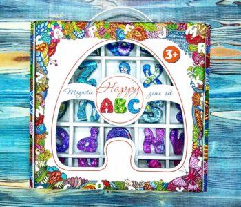 Szklany magnetyczny alfabet do wygrania na Mikołaja
