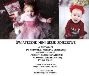 Zimowo-świąteczna mini sesja zdjęciowa w Gdyni