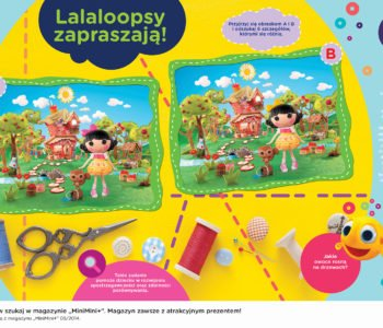Lalaloopsy zabawa do druku znajdź różnicę