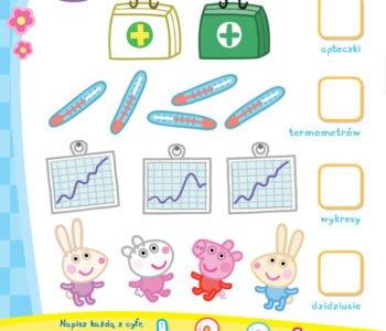 Nauka liczenia ze świnką Peppą zabawa do druku dla dzieci