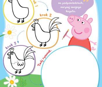 Peppa uczy dzieci rysować, zabawy z Peppą do druku