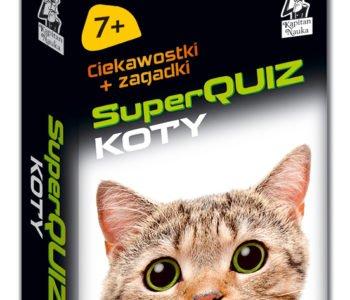 SuperQUIZ KOTY - ciekawostki i zagadki - książka dla dzieci