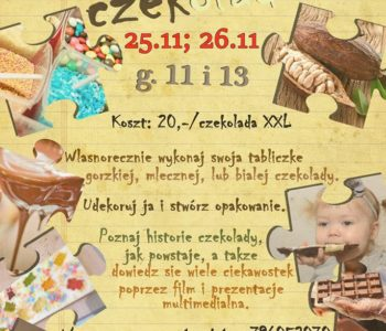 Listopadowe warsztaty czekoladowe w Kawiarni Stopklatka przy Kładce Bernatka