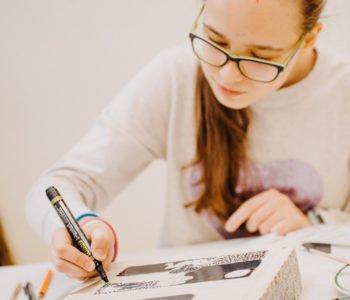 Dzieci drukują – warsztaty druku płaskiego