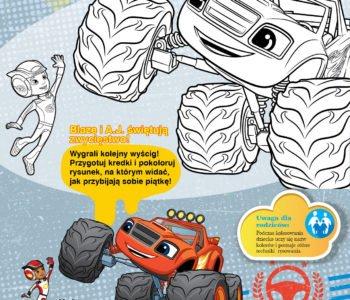Blaze i Megamaszyny kolorowanka do druku dla dzieci