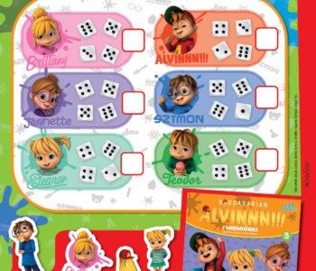 Alvinnn i wiewiórki policz punkty zabawa do druku dla dzieci