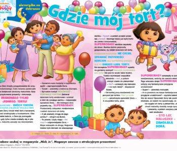 Dora poznaje świat. Gdzie mój tort? Historyjka na dobranoc