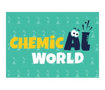 ChemicAl World logo - Kraków - miejsaca, usług, zajęcia dla dzieci- miastodzieci.pli