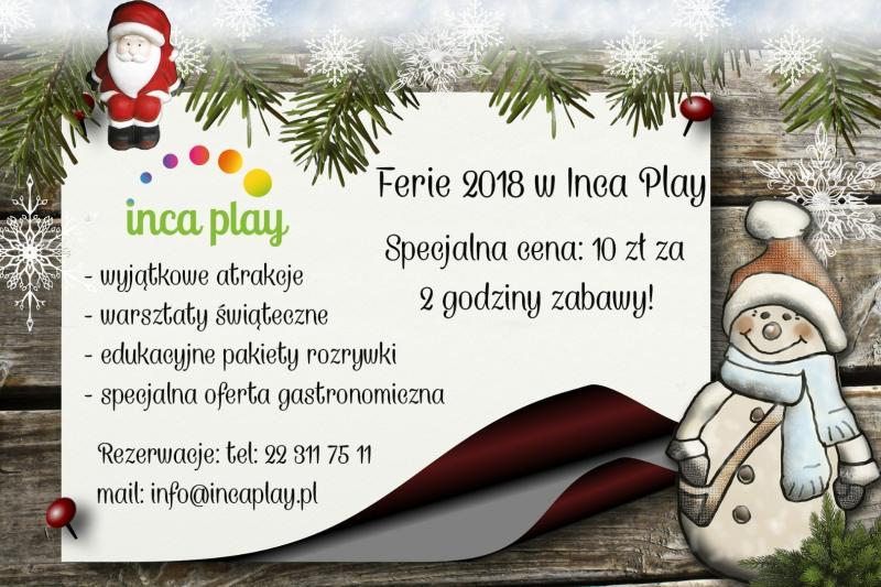 Zima w mieście w Inca Play 2018, atrakcje dla dzieci w Warszawie