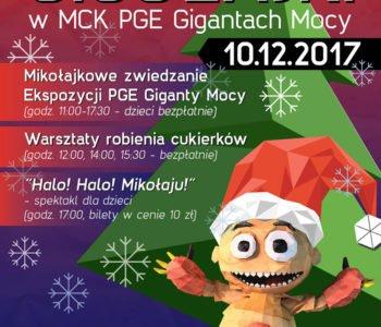 Gigołajki - mikołajkowe święto dla dzieci w MCK PGE Gigantach Mocy! Bełchatów