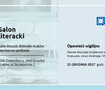 Opowieść Wigilijna w Salonie Literackim Biblioteki Kraków