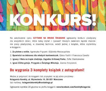 Konkurs plastyczny dla dzieci do wygrania książki