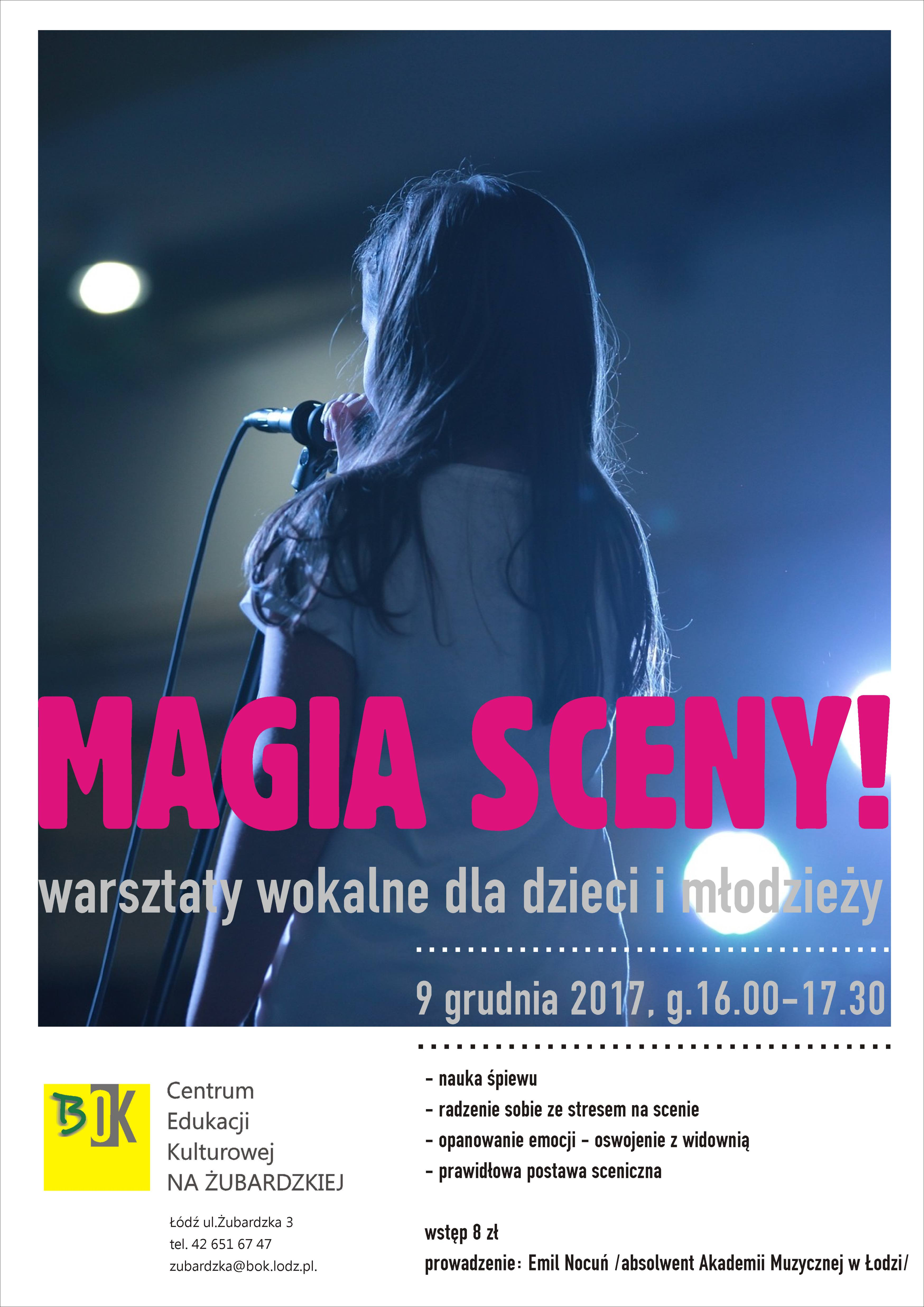 Warsztaty wokalne dla dzieci i młodzieży na Żubardzkiej