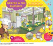 Ciekawski George w roli kucharza zabawa do druku