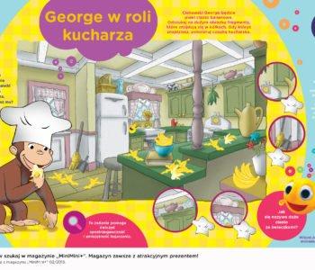 Ciekawski George w roli kucharza