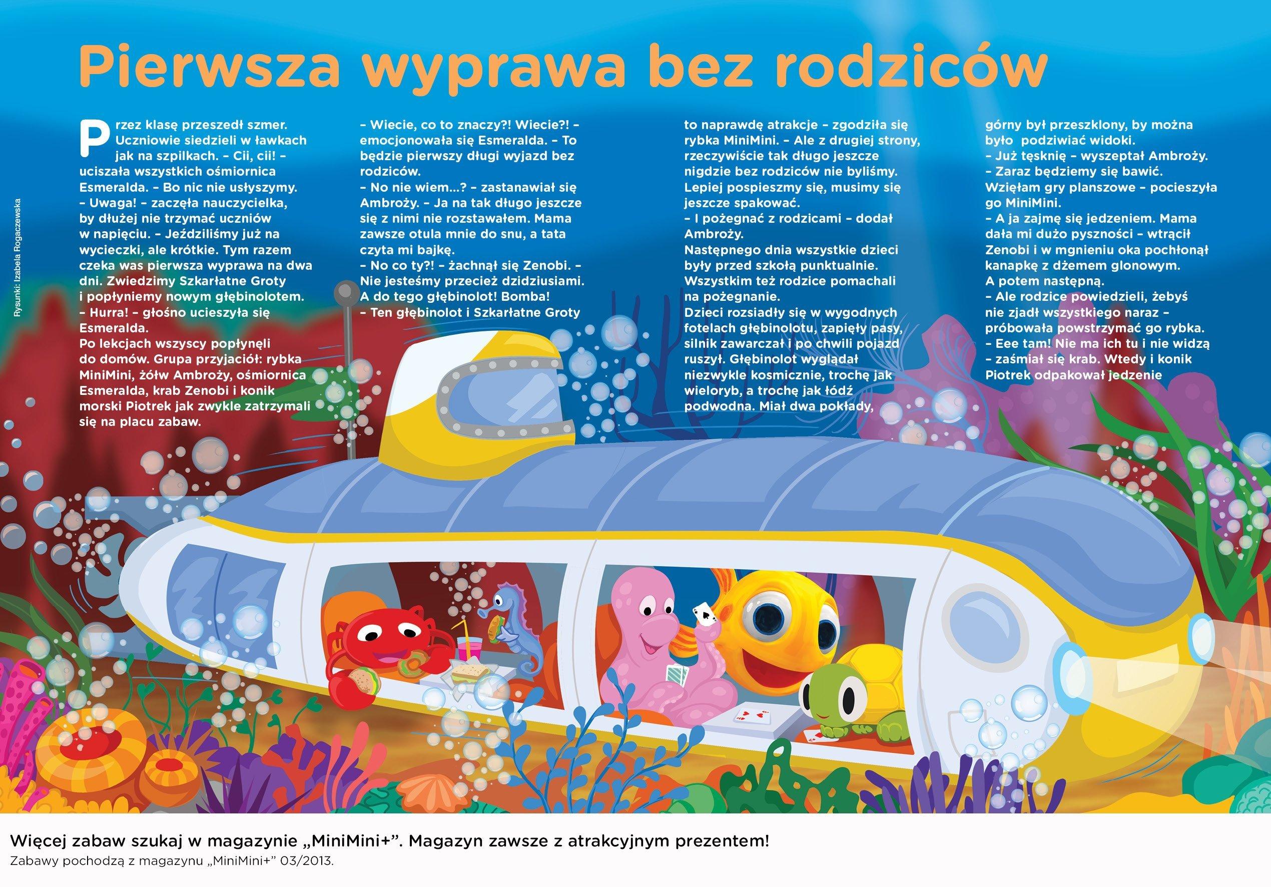 Przygody Rybki MiniMini bajka do czytania dziecku