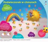 Chmurkowe opowieści podwieczorek w chmurach, zabawa dla dzieci do druku