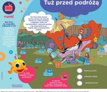 Policz walizki Kota Prota - zabawa dla dzieci do druku