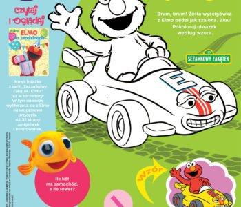 Elmo wygrywa wyścig kolorowanka dla dzieci do druku