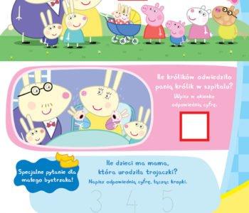 Świnka Peppa policz króliki zabawa dla dzieci do druku