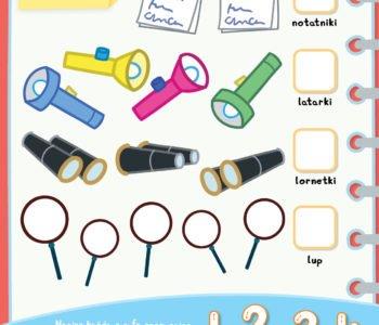 Policz przedmioty zabawa dla dzieci do druku