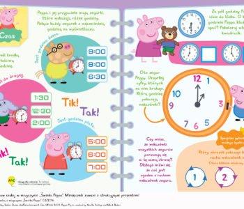 Rozpoznajemy godziny ze Świnką Peppą, nauka zegara zabawa do druku