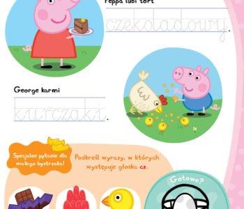 Poznawaj literki z Peppą, zabawy do druku dla dzieci
